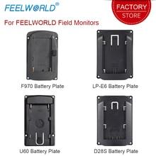 Piastra batteria per Feelworld DSLR Field Camera Monitor F570 T7 T756 FW703 FW279S FW760 FW759 FW1018SPV1 FW450 S450 M A737 Ecc