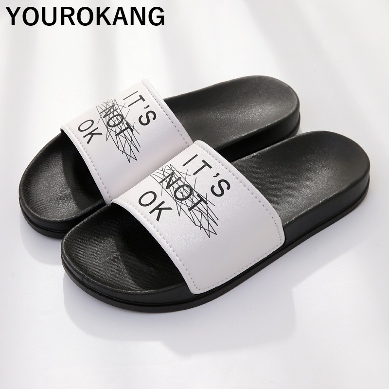 Men Summer Badslippers Outdoor Couple Beach Shoes Unisex Fashion Non slip Bathroom Sandals Soft Slides Classic New Flip Flops in Slippers from Shoes