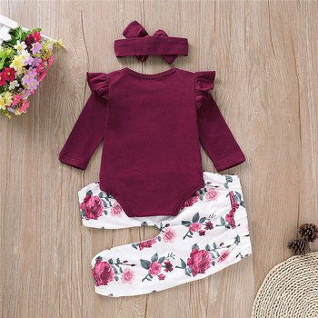 Floral Baby Girl Clothes Long Sleeve Autumn Winter Newborn Outfit For Girl Casual Flower Print Infant Girl Clothing Set P25 1