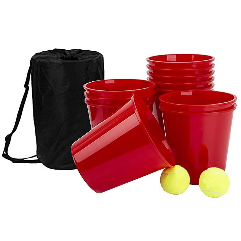 Plastic BucketBall Game Toy For Outdoor Beach Camping Lawn Backyard Playing Entertainment Portable Lightweight Toy Funny Game