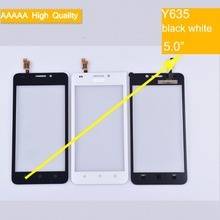 цена на 10pcs/lot For Huawei Ascend Y635 Touch Screen Touch Panel Sensor Digitizer Front Outer Glass Lens Touchscreen No LCD black white