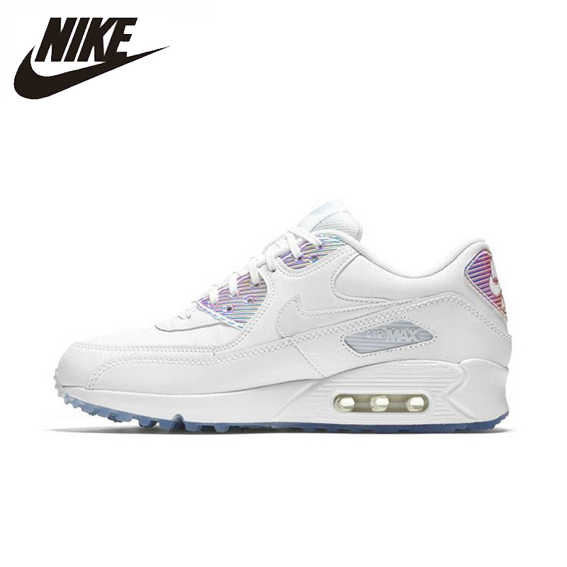 Nike AIR MAX 90 PREMIUM Femmes chaussures de course de baskets respirantes Formateurs Authentique #443817-104