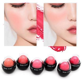 6 Colors Face Matte Blush Cream Makeup Cheek Blusher Mineral Blusher Foundation Contour Makeup Cream
