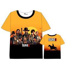 Hot New Red Dead: Redemption T-shirt Men Women Short Sleeve  dress Cosplay Costumes Tops Unisex Dead 2 t shirt