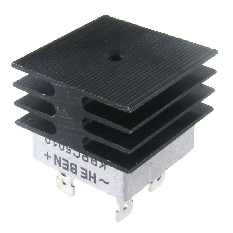 50A 1000V Metal Case Bridge Rectifier with Heatsink for video card Mini Cooling Fan radiator For Dropshipping