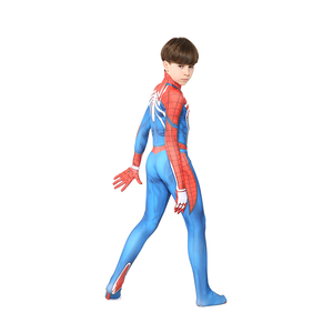 Image 4 - Kids Marvel Comic Fantasy Superhero Classic Ps4 Insomniac Games Spider boy Carnival Party Zentai Suit Halloween Cosplay Costume