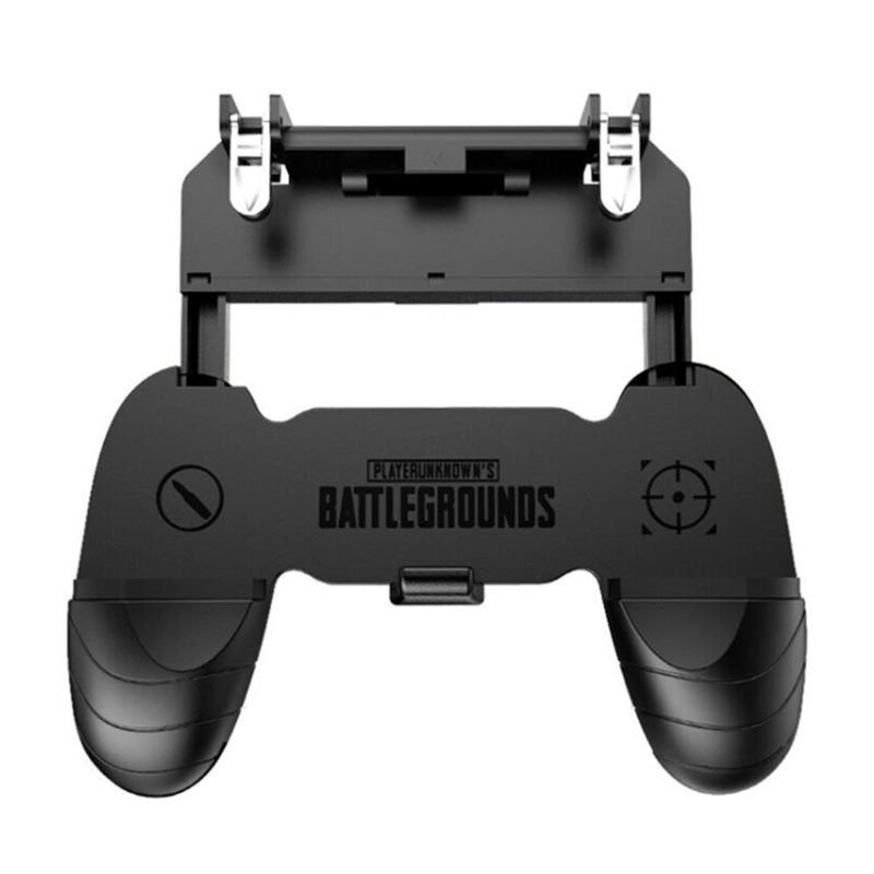 W18 Smart Phone Mobile Gamepad Gaming Trigger for PUBG Fire Button Aim Key Shooter Handle Grip Controller Game Pad Joystick