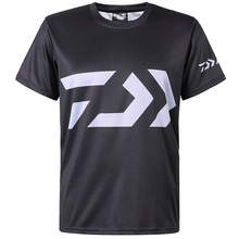 1PC 2019 Black Fishing T-shirt O-Neck Fishing Clothes Outdoor Simple Breathable Quick-drying Men Hiking Fishing Shirt mege high quality quick drying outdoor men shirts army breathable clothes camisa pesca sports fishing trekking hiking clothing