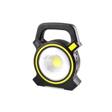Solar Portable Rechargeable LED Floodlight 50W COB Outdoor Garden Work USB Battery Powered Spot Lamp Tent Light