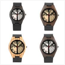 cbb771ab3db Relógio para o Homem de Madeira minimalista Casual Couro Relógios para o  Menino Ama Artesanal de