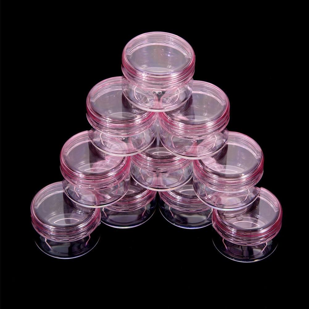 10Pcs Cosmetic Empty Jar Pot Eyeshadow Makeup Face Cream Container Box