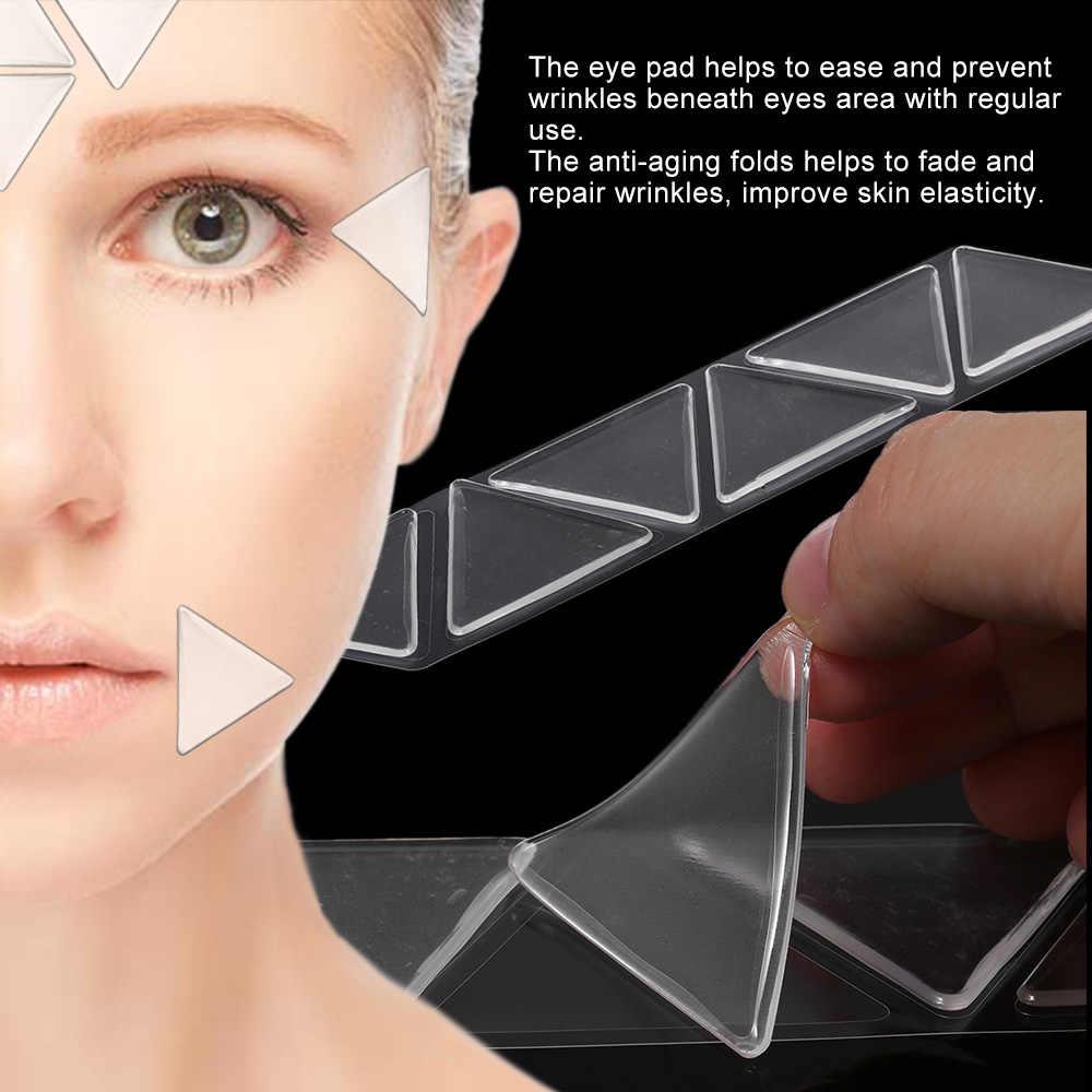 Anti Rughe Della Fronte Viso Pad In Silicone Riutilizzabile Invisibile Pieghe Naso-labiali Anti-invecchiamento Maschera Prevenire Viso Rughe