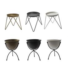 Patio Flower Pot Plant Stand Two Style Choose Metal Tray Flower Stand Triangle Flower Pot Type Living Room Single-Layer Pot Rack