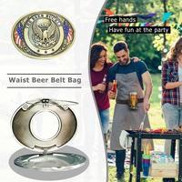 Фляга для путешествующих поясная сумка для пива портативный металлический ремень для пивной головы смешная Бутылка пряжка для кемпинга пи...
