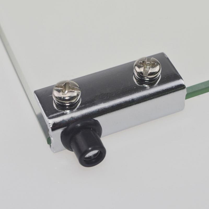 2 uds. Bisagra pivotante para puerta de vidrio, puertas de armario, armarios de TV, sujetalibros, Clip, bisagras de cristal plateado para armario, armario, nuevo