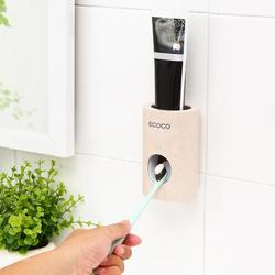 Automatic Toothpaste Dispenser Wall Mount Toothbrush Holder Stand Bathroom Product Toothpaste Squeezers Dropshipping