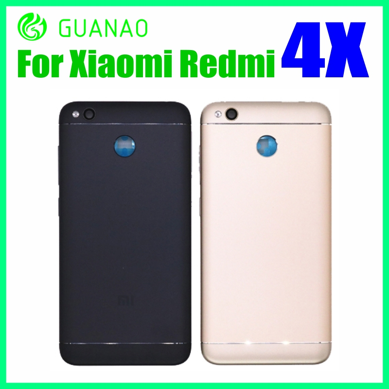 For Xiaomi Redmi4X Case Replacement Parts Metal Back Housing Battery Cover Door  For Redmi 4x With Volume Power Side Buttons