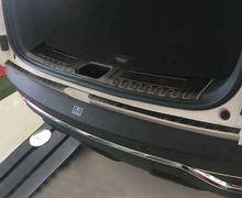 black color for dongfeng AEOLUS AX7 2019 Trunk Protective plate Decorative protection Stainless steel
