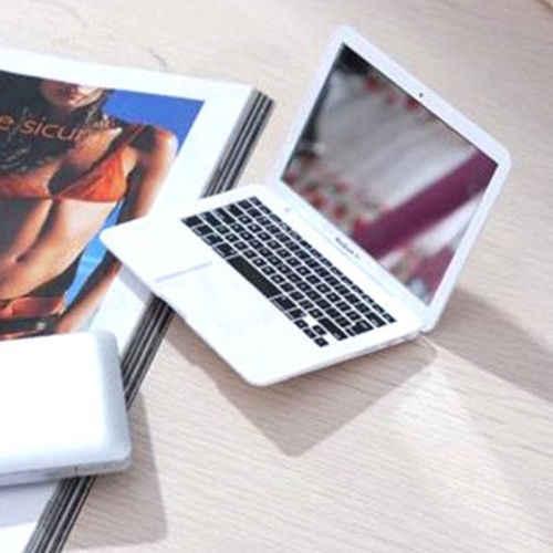 חם עיצוב מחשב נייד צורת קוסמטי איפור מראות נייד מיני כיס נייד טופס נקה זכוכית יופי קוסמטי מראה