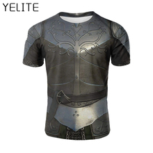 YELITE 2019 Ancient Roman Warrior Newest Battlegear Armor Sleeve Summer T-Shirt 3d Print T Shirt Nov