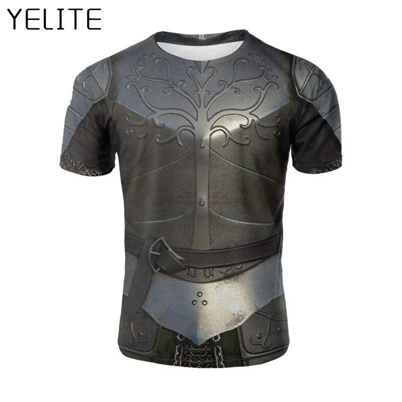 YELITE 2019 Ancient Roman Warrior Newest Battlegear Armor Sleeve Summer   T  -  Shirt   3d Print   T     Shirt   Novelty Tshirt Male Hot Selling