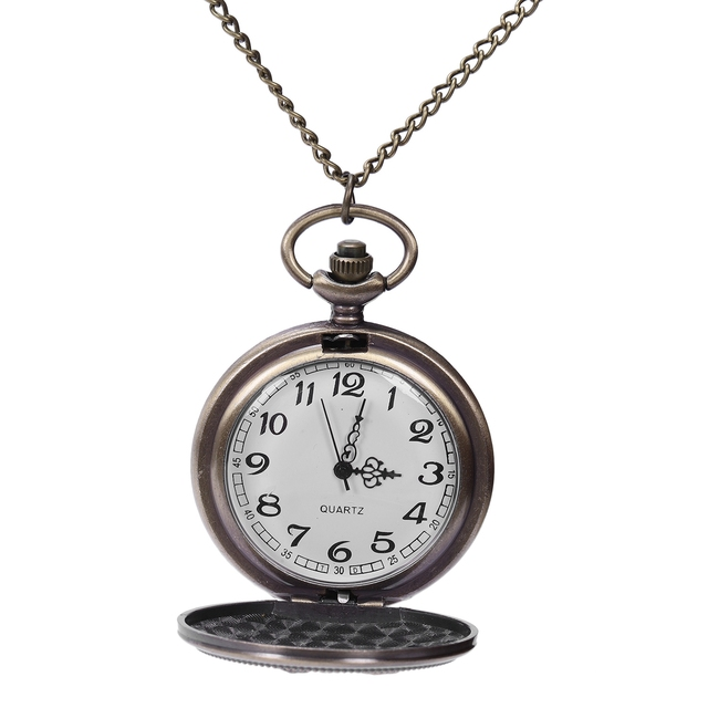 Quartz pocket watch Innovative design peripheral gear wolf head fine chain pocket watch