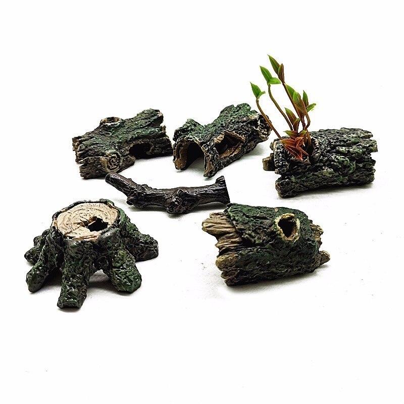 Имитация дерева пень искусственная Лава ветка модель Фигурка ремесло миниатюрное украшение для сада в виде Феи Аквариум Украшение DIY аксессуары|Статуэтки и миниатюры| | - AliExpress
