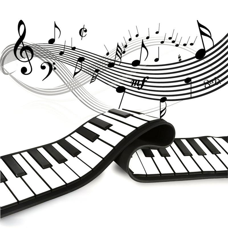 61 touches orgue électronique Silicone main rouleau Piano avec haut-parleur Portable orgue électronique clavier bureau Piano enfant adulte