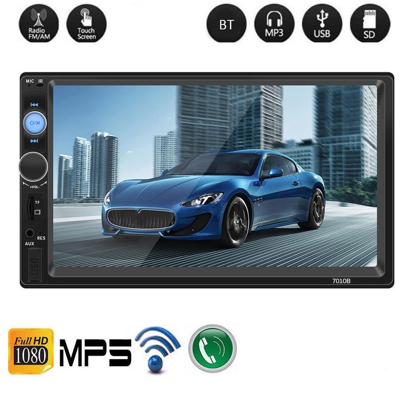 """Camera 7/"""" inch 7010B 2 DIN Car MP5 Player Bluetooth Touch Screen Stereo Radio"""