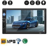 7 Inch Bluetooth Touch Screen MP5 Card Machine 2 Din Car Stereo Radio Car Reversing Monitor For 2 DIN 7 HD MP5 7010B+camera