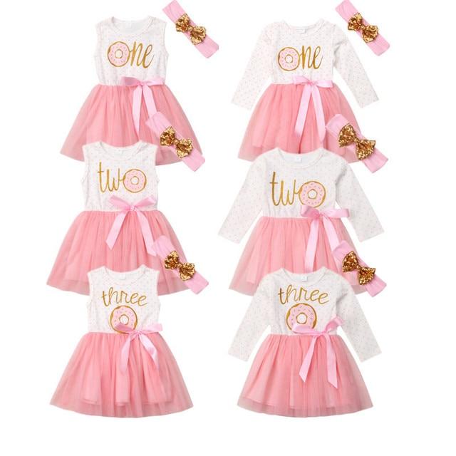 ba24cb2e8 Newborn Infant Kid Baby Girl Dress Donut Tulle Tutu Princess ...