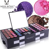 142 Colors Professional Eyeshadow with 3 Colors Blusher Eyebrow Powder Makeup Palette Set Long lasting Shimmer Beauty Cosmetics