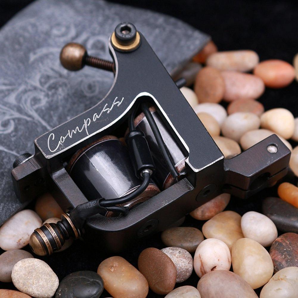 Compass Tattoo Machine Mariana Liner Samar Shader Steel Frame Coils Machine Tattoo Guns Makeup Supplies