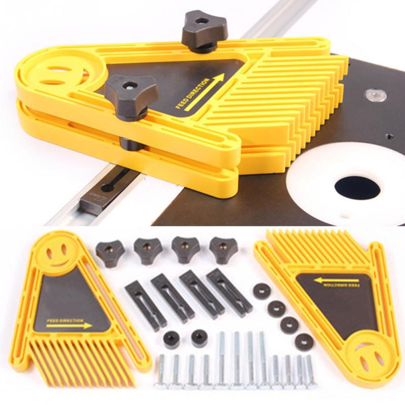 Us 19 48 8 Off Multi Purpose Feather Board Set For Table Saws Woodworking Engraving Machine Double Featherboards Miter Gauge Slot Woodwork In Hand