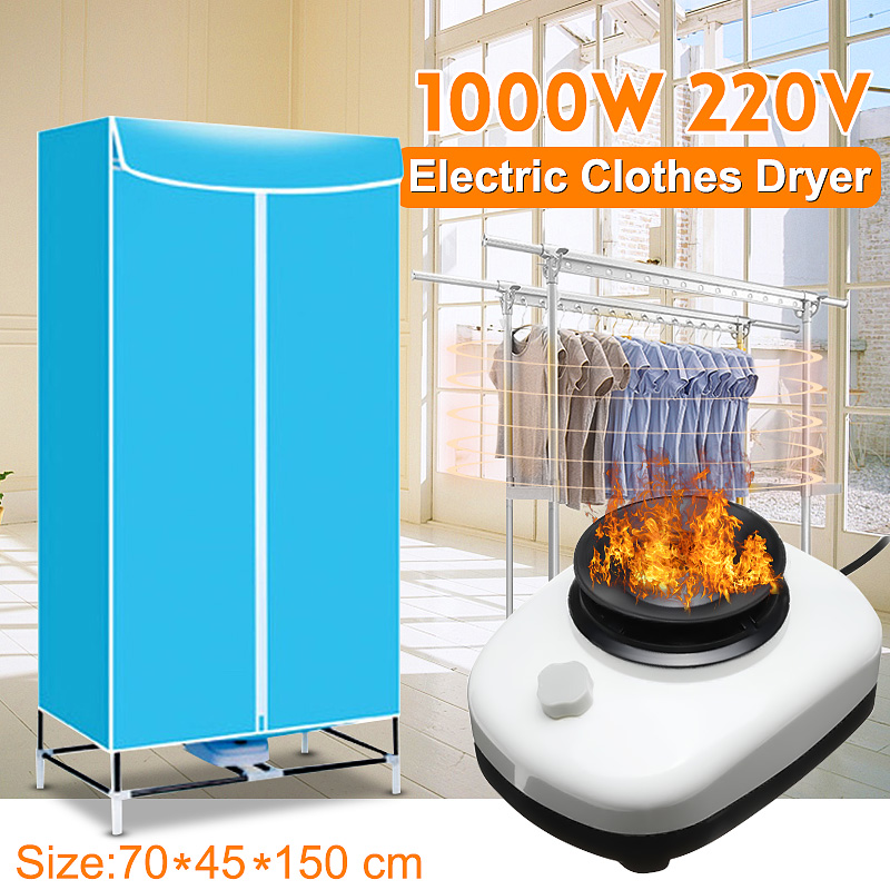 220V 1000W Dryers Electric Clothes Dryer Drying Machine Household Drying Closet Stainless Steel Tube Cloth Wardrobe
