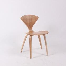 CH177 Naturale sedia laterale di noce o cenere di legno Norman Cherner Sedia Compensato sedie rosso nero bianco sedia da pranzo di trasporto libero