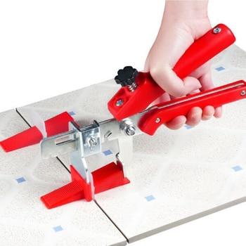 Genaue Fliesen Nivellierung System 100 Clips  100 Keile  1 Fliesen zange Boden Wand Flache Leveler Kunststoffabstandhalter konstruktionen werkzeug