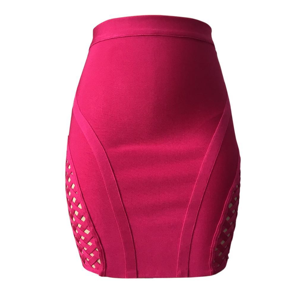 KAOUYOU Femmes Rouge Micro Mini Jupes Moulante Bandage Jupes Dames Sexy Minifalda Dentelle Up Jupe Courte Nuit Partie Clubwer W041