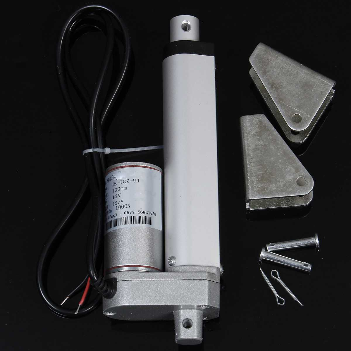"""Image 4 - DC 12V Electric Linear Actuator 1000N 50 500mm Stroke Linear Motor Controller 12mm/s Electric Bracket 2""""/4""""/6""""/8""""/16""""/20""""-in DC Motor from Home Improvement"""