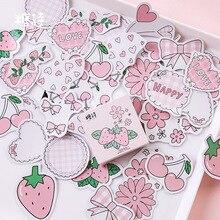 Mohamm Клубника Аромат серии милые коробки Kawaii Наклейки планировщик для скрапбукинга канцелярские японский дневник наклейки