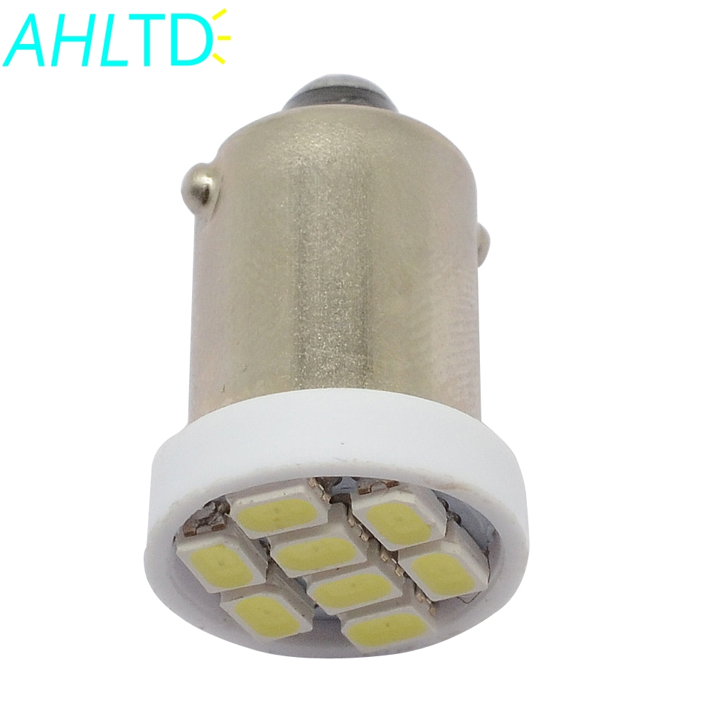 1Pcs T11 Ba9s Car Led 1206 8smd White Reading Bulbs T4w Festoon Dome Door Light Signal Lamps Plate Led 12V Turn Signal Tail Lamp in Signal Lamp from Automobiles Motorcycles