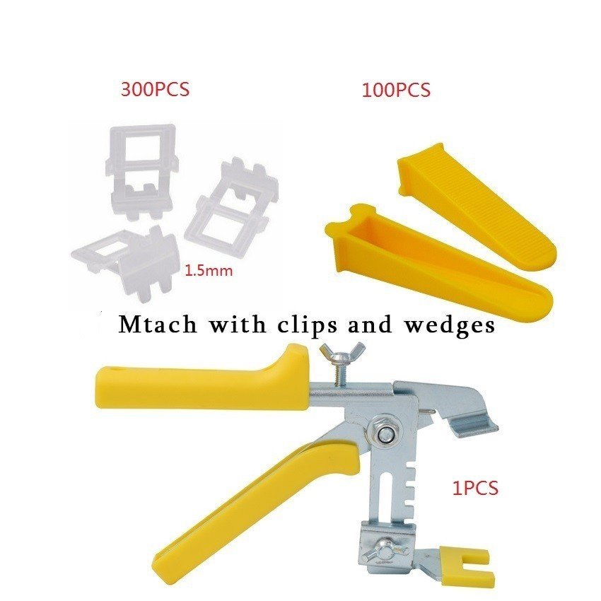 300 Clips 100 Wedges 1 Tile Pliers Wall Tile Pliers Ceramic Alignment Wall Levelers Level Spacers