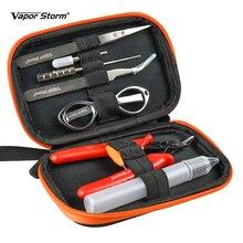 Vapeur tempête Vape bobine trousse à outils pince à épiler tournevis pince bobine gabarit brosse bouteille électronique Cigarette accessoires RDA V1 outils