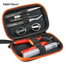 Vapor Storm Vape Coil ชุดเครื่องมือแหนบไขควงคีม Coil Jig แปรงขวดอิเล็กทรอนิกส์อุปกรณ์เสริม RDA V1 เครื่องมือ