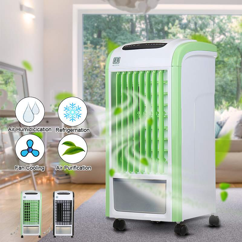 Home 3.5L Capacity Mobile Air Conditioner Fan Humidification Cooling Fan Evaporative Air Cooler Humidifier + Remote ControllerHome 3.5L Capacity Mobile Air Conditioner Fan Humidification Cooling Fan Evaporative Air Cooler Humidifier + Remote Controller