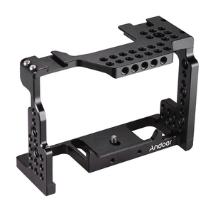 Image 4 - Andoer Camera Cage Video Film Movie Making Stabilizer 1/4 Inch Screw with Cold Shoe Mount for Sony A7II/A7III/A7SII/A7M3/ Camera