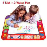 2019 1-6T Baby Toys Kids Drawing Educational Toy Water Mat Drawing Painting Toddler Board Magic Pen Children Gift 45.5 x 29cm