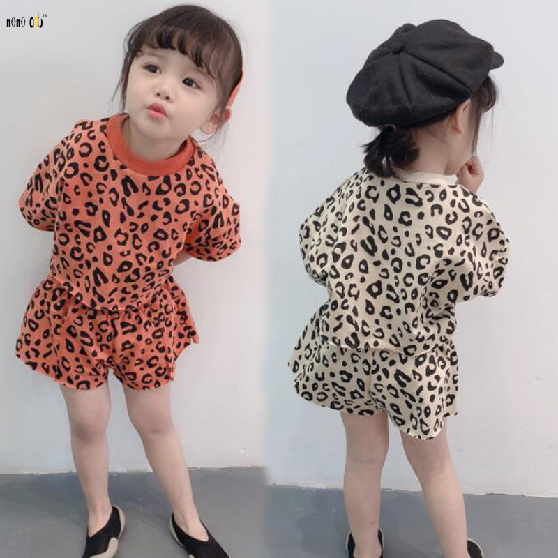 Leopard Print Women Units Youngsters Garments Two Piece High & Pants Informal Summer time Sport Swimsuit Baby Woman Clothes 1 2 three four 5 6 7 Years Clothes Units,...