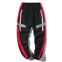 2019 Summer New Wear Student Stripe Sports Leisure Nine Part camo Hot Pants Man White Black sweatpants Japan Style Free shipping