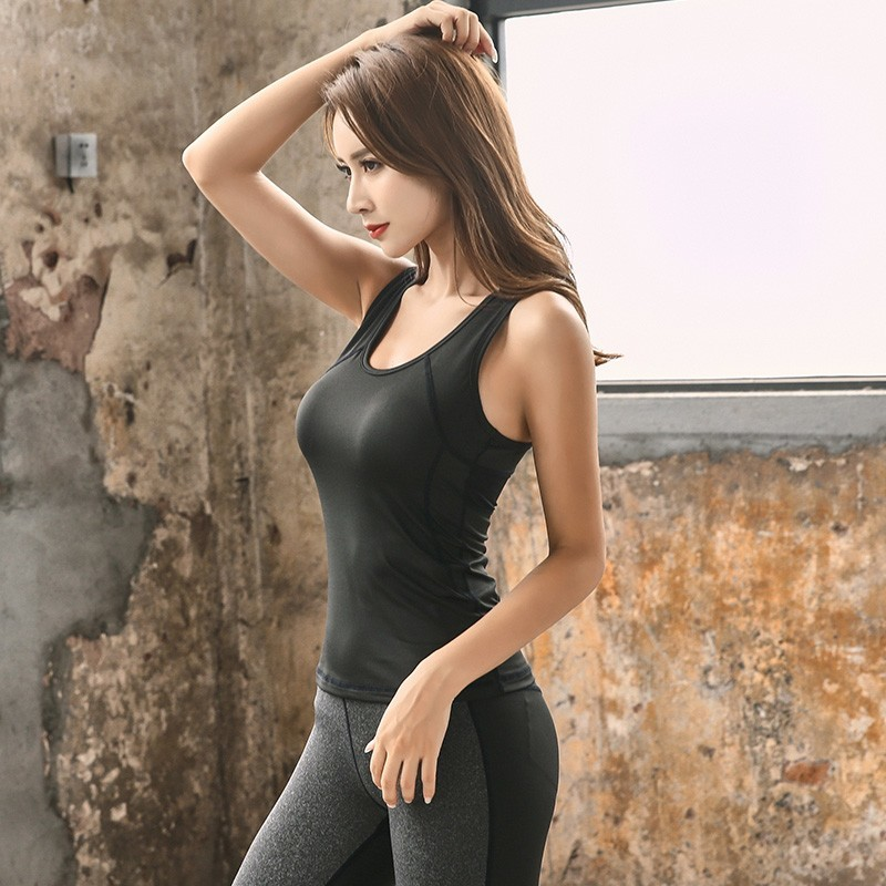 Women Sportswear Compression Yoga Tank Top Stretchy Quick Dry Workout fitness Gym Running Racerback Vest Top Tee sports Clothing